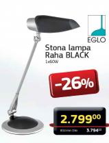 Stona lampa Raha Black