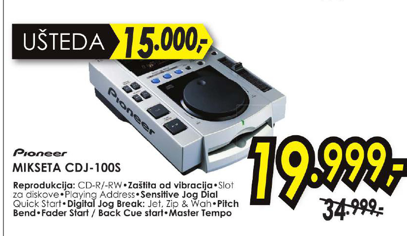 Mikseta CDJ - 100S