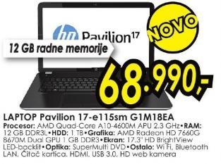 Laptop Pavilion 17-e115cm G1m18ea