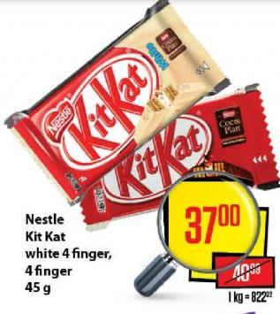 Čokoladica 4 finger white