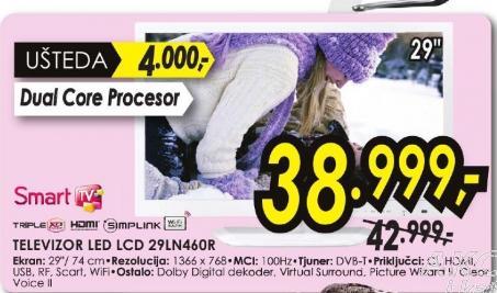 Televizor LED LCD 29LN460R