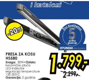 Presa za kosu HS 580