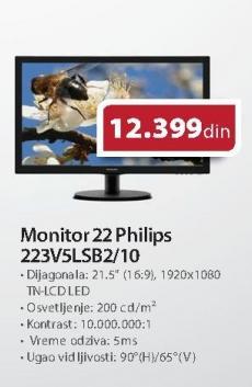 "Monitor LED 22"" 223v5lsb2/10"
