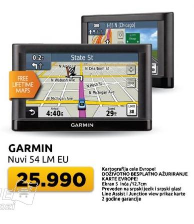 Navigacija Garmin Nuvi 54 Lm Eu