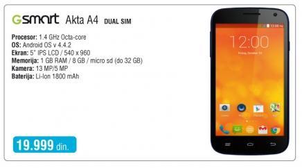 Mobilni telefon Gsmart Akta A4