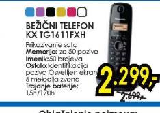 Bežični telefon KX-TG1611FXC