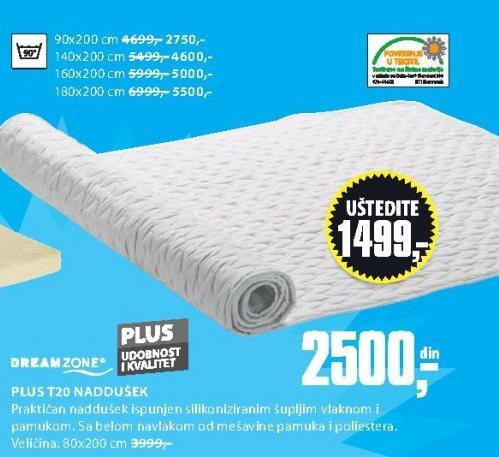 Naddušek Plus T20 90x200