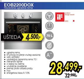 Nezavisna ugradna rerna EOB 2200 DOX