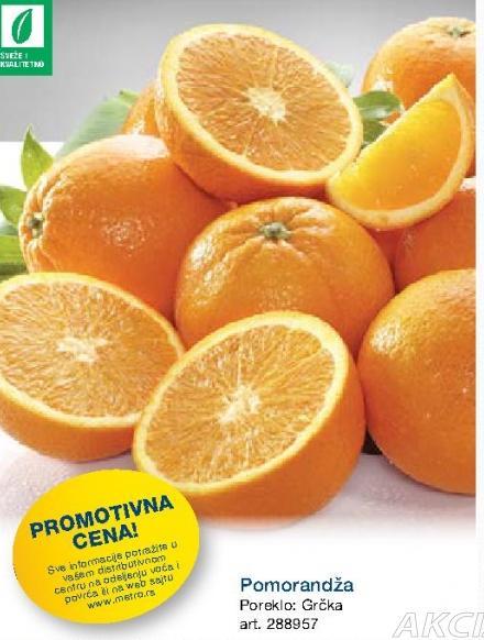 Promotivna cena pomorandži