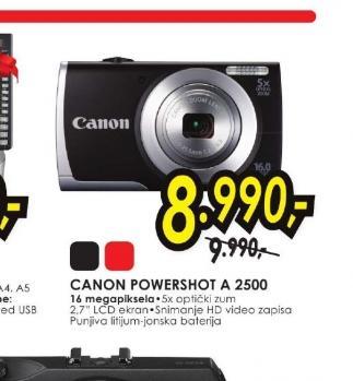 Digitalni fotoaparat PowerShot A 2500 BK