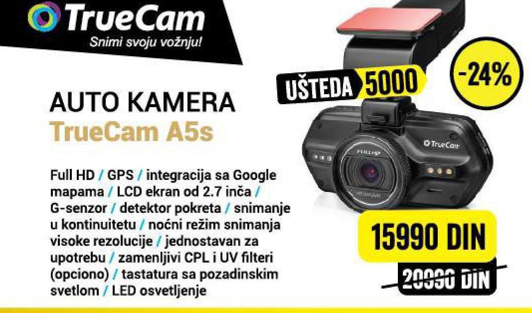 Auto kamera A5s