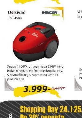 Usisivač SVC45RD