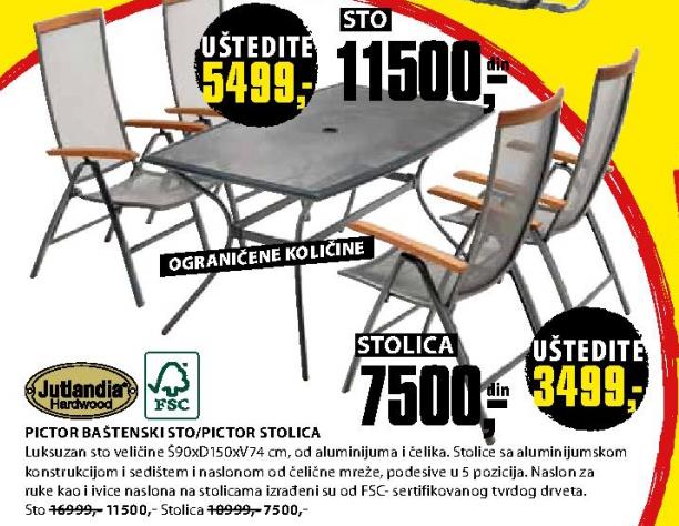 Baštenski sto Pictor - Jutlandia