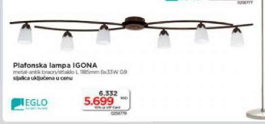 Plafonska lampa Igona