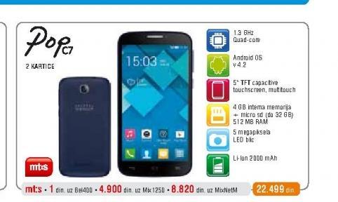 Mobilni telefon OT7041 Pop C7