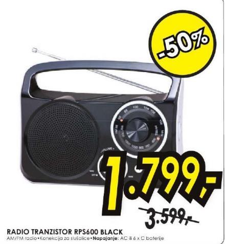 Radio Tranzistor RPS 600 black
