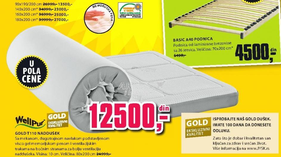 Naddušek Gold T110 180x200