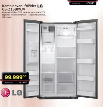 Kombinovani frižider GS-3159PVJV