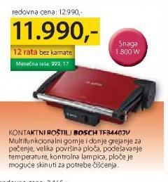 Kontaktni Roštilj TFB4402V
