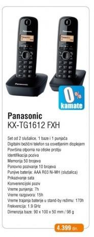 Telefon KX-TG 1612 FXH