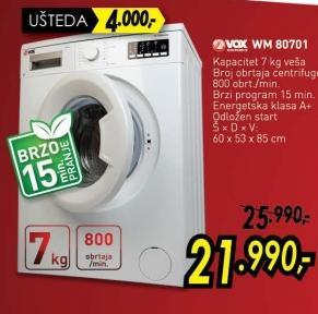 Mašina za pranje veša Wm 80701