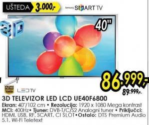 "Televizor LED 40"" Ue40f6800"