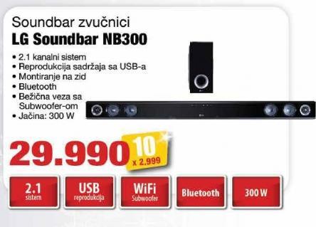 Zvučnici 2.1 Soundbar Nb300