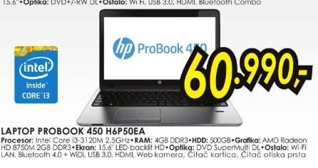 Laptop ProBook 450 H6P50EA