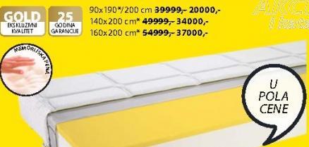 Dušek Gold F85 90x190/200 cm