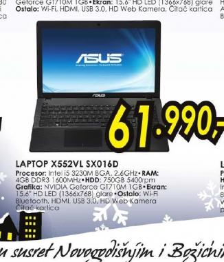 Laptop X552VL-SX016D