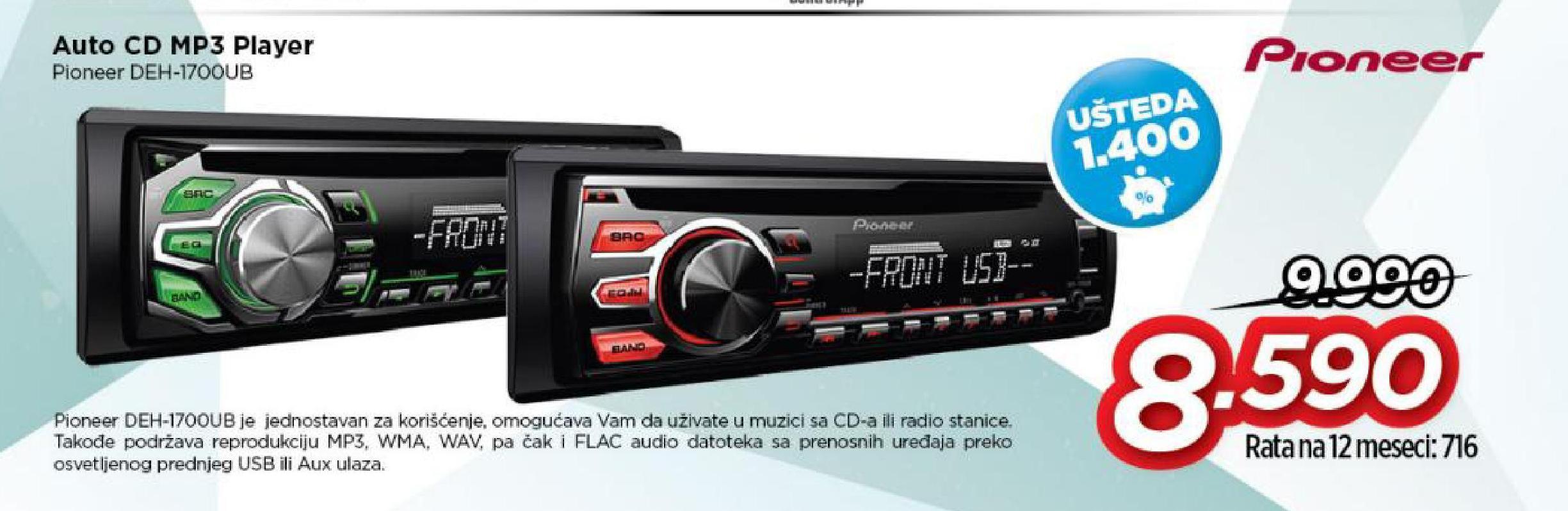 Auto Cd DEH-1700