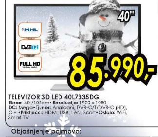 3D televizor LED LCD 40L7335DG