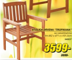 Stolica drvena ''Tropikana''