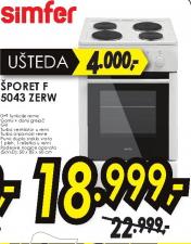 šporet F 5043 ZERW