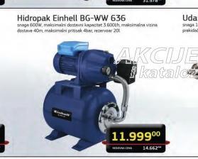 Hidropak sistem za protok vode BG-WW 636
