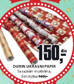 Ukrasni papir Durin