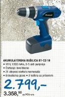 AKUMULATORSKA BUSILICA BT-CD 18