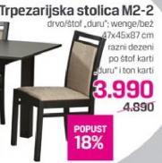 Trpezarijska stolica M2-2