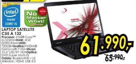 Laptop Satellite C55 A 132