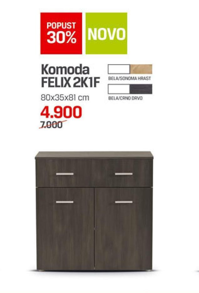 Komoda FELIX 2K1F
