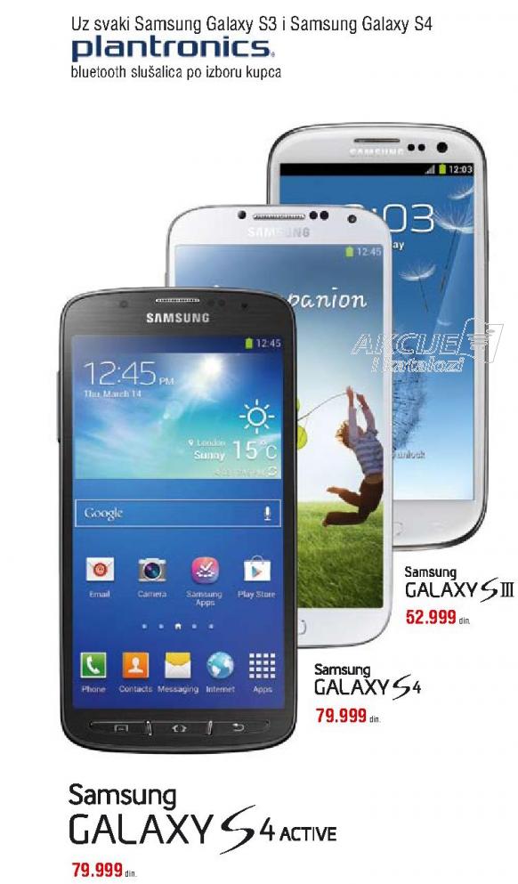 Telefon mobilni Samsung Galaxy S4 Active+Poklon bluetooth slušalice plantronics