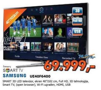 "Televizor LED 42"" Ue40f6400"