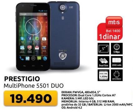 Mobilni telefon MultiPhone 5501 Duo