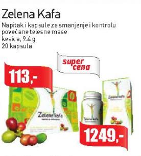 Zelena kafa kesica