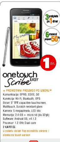 Telefon mobilni One Touch  Scribe Easy