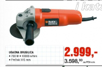 Ugaona brusilica, Black&Decker