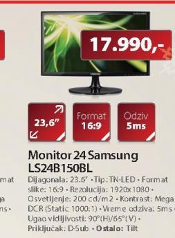 "Monitor 24"" S24B150BL"