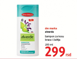 Alverde, Šampon za kosu breza i žalfija