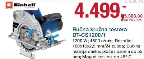 Ručna kružna testera Bt-Cs1200/1