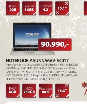 Laptop N56VV-S4017